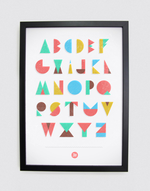 Dear Life Alphabet by Joao Ricardo Machado. Typography using geometric shapes. More typography inspiration. posted byW.A.T.C. // Facebook // Twitter // Google+