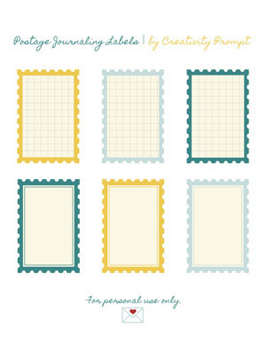 (via Freebie – Postage Journaling Labels | Creativity Prompt)