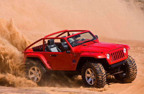 "the Jeep Lower Forty…sick concept Jeep!! The forty stands for the 40"" Tires tucked underneath it!"