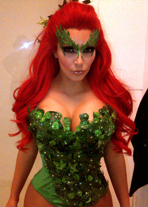 iheartchaos:  Kim Kardashian went as Poison Ivy for Halloween this year So there's that. Via