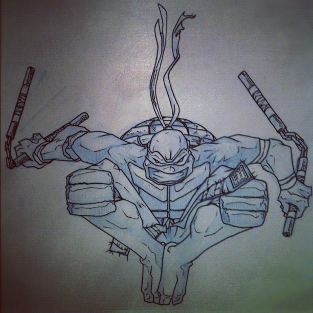 rezadraws:  Michelangelo. (Taken with instagram)