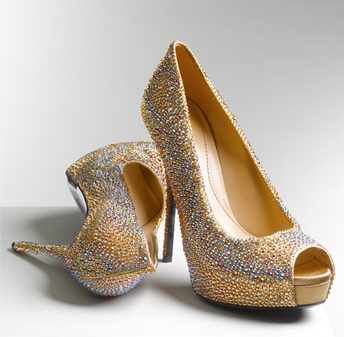 Let your feet sparkle.  Sofia by Gucci