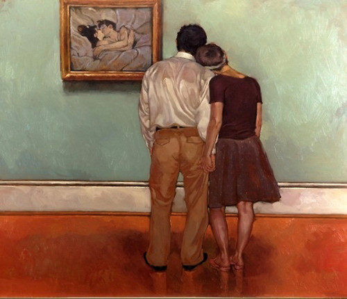 """Lovers""      ""  Lovers Lautrec""    by Joseph Lorusso Courtesy of  Helenelagonelle"
