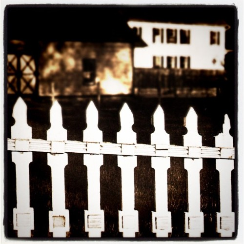 Paul Strand - The White Fence, 1916. Modified using instagram. View original version here.