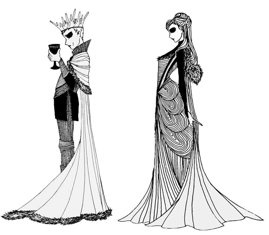 "King Joffrey Baratheon and Lady Sansa Stark from the ""A Song of Ice and Fire"" series."