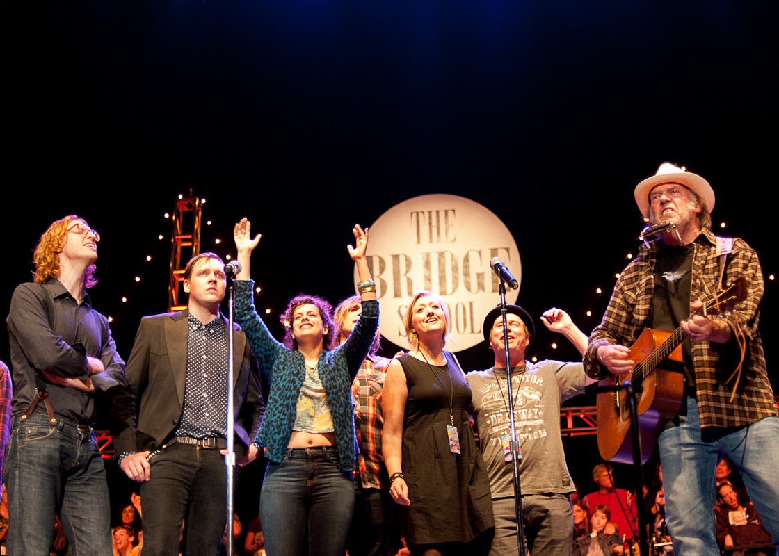 Arcade Fire and Neil Young at The Bridge School
