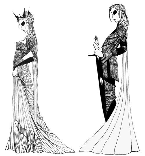 "Queen Reagent Cersei Lannister and Ser Jaime Lannister from the ""A Song of Ice and Fire"" series."