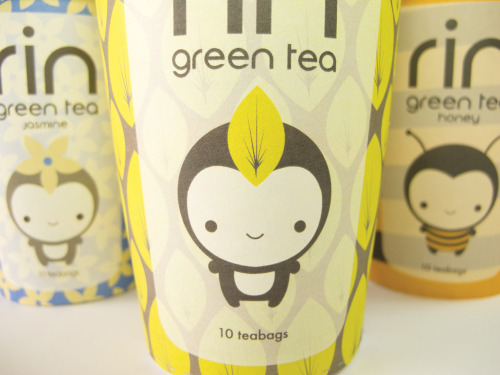 RIN GREEN TEAPackaging Design Unique green tea packaging with cute shelf appeal for young women & tea enthusiasts.
