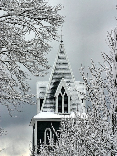 paulaaguilera:  Snowy Steeple   Magical..