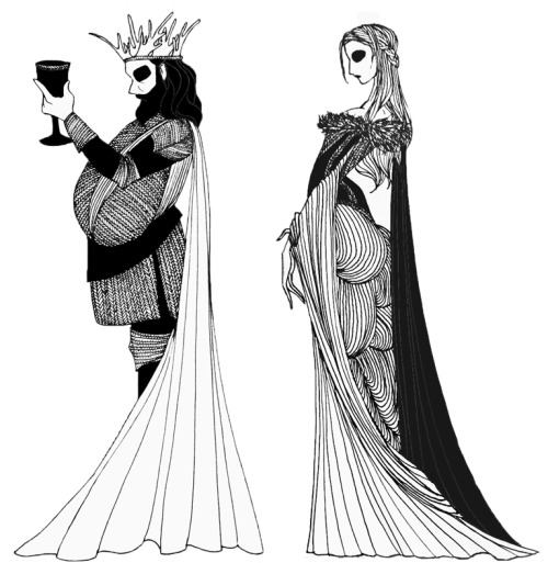 "King Robert Baratheon and Lady Lyanna Stark from the ""A Song of Ice and Fire"" series."