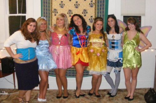 me & my friends on halloween! i'm sleeping beauty