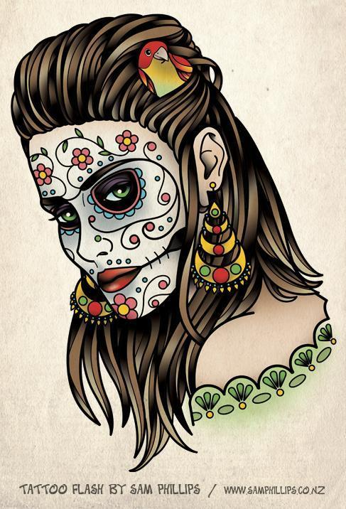 Day Of The Dead Girl Tattoo - Sam Phillips