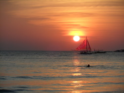 I took this sunset photo last April 2011 in Boracay, Philippines submitted by: Kim, thanks!