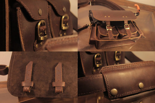 (via Sukhothai 'Day Tripper' Unisex Leather Messenger by surgeonklade) THIS BAG IS AMAZING. I AM NOT WORTHY.