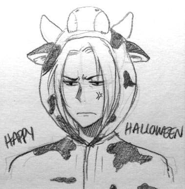 askcaopi:  [Hey! Just here to say Happy Halloween and to have an excuse to draw Cao Pi looking as dumb as possible. I'm sorry I haven't been around. Still busy.]  d'aww ♥