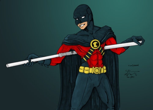 Red Robin :color: by =Sakurafire Red Robin, photoshop digital color on-top of traditional grayscale marker. Enjoy!