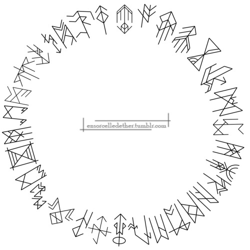 deepwoodsteaparty:  ensorcelledether:  Runic Circle I also make bind runes, just so you guys know. This is a circle of bind runes of concepts that mean a lot to me.  Bind runes are my favorite form of runic work.
