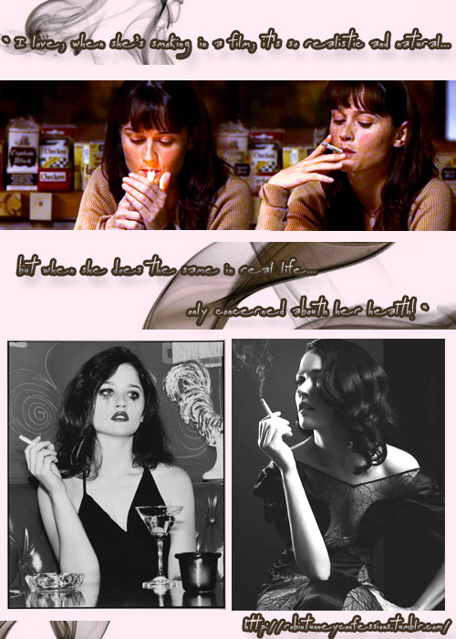 "Robin Tunney Confession:""I love,when she's smoking in a film, it's so realistic and natural. but when she does the same in real life… I am only concerned about her health!"" send by: http://freckledgirldreams.tumblr.com/"