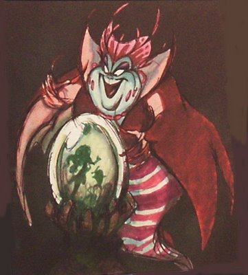 scurviesdisneyblog:  Ursula Concept Art  She reminds me of the Cheshire Cat.