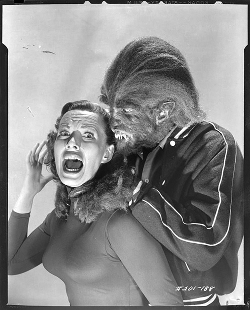 theniftyfifties:  'I Was A Teenage Werewolf' publicity photo, 1957.