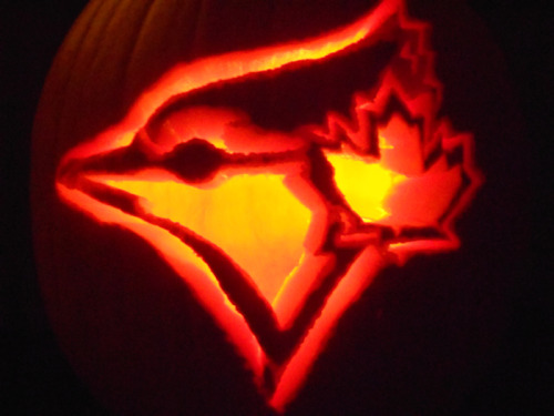 Happy Halloween, everyone! Here's a look at this year's Blue Jay-O-Lantern.