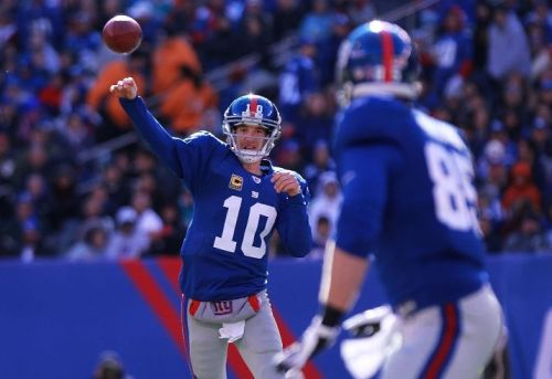 paulkatcher:  Peter King ranks the 5-2 first-place Giants as only the 15th-best NFL team.  Six of New York's remaining nine games are against teams King ranks ahead of them (Packers, Niners, Patriots, Eagles, Jets and Saints), so the G-Men have a chance to prove a lot of people wrong.  Can they stay healthy, though? And how healthy do they have to be with Eli Manning playing as well as he has?