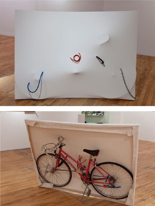 touquetouque:  Mathieu Lefevre, My Bike Disguised as Contemporary Art, bike in canvas, bike locks, 2008 Artist of the day: Mathieu Lefevre