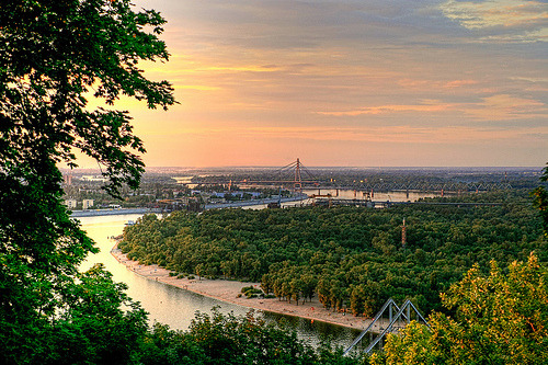 allthingseurope:  The View of the Dnieper in Kiev, Ukraine (by Roads Less Traveled Photography)