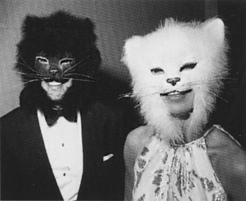 annabeltollman:   At Truman Capote's famous black & white ball, Oscar & his first wife, Francoise, 1966.
