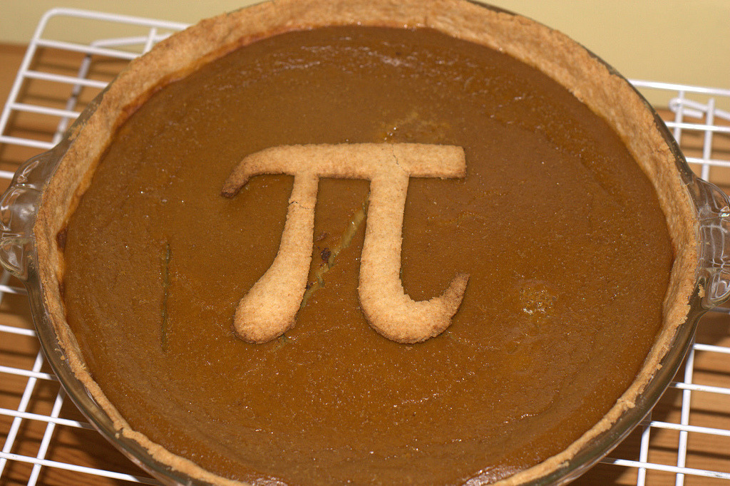 cab1729:  quantumaniac:  Pi Pie  it's irrational, transcendental and delicious!