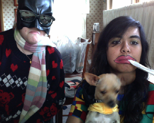 hipster batman, frug, and lil b