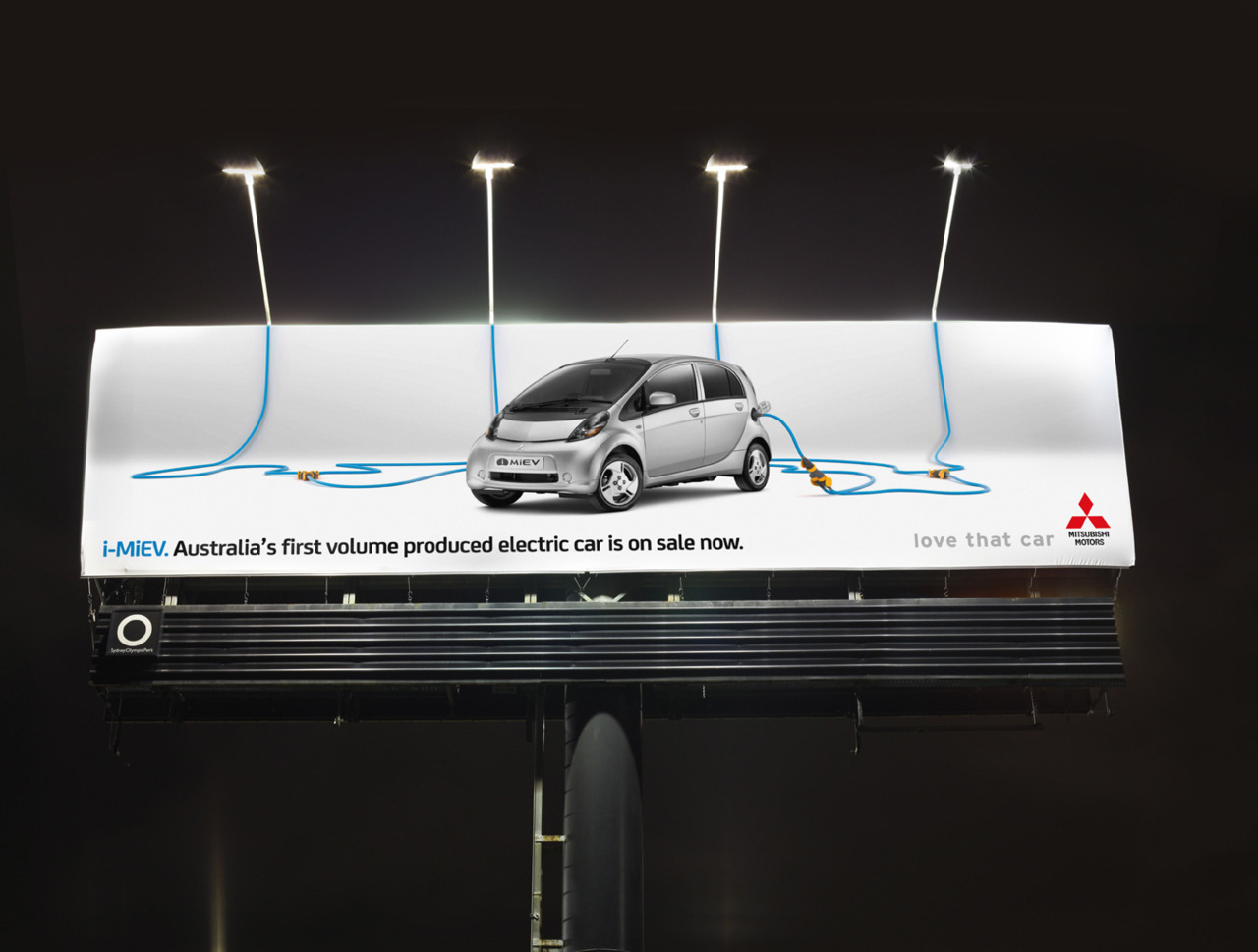 Ambient Media billboard at night :)