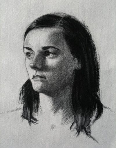 Portrait by sophiehound on Flickr.Charcoal sight-size drawing from life on Roma paper. 8-10 hrs