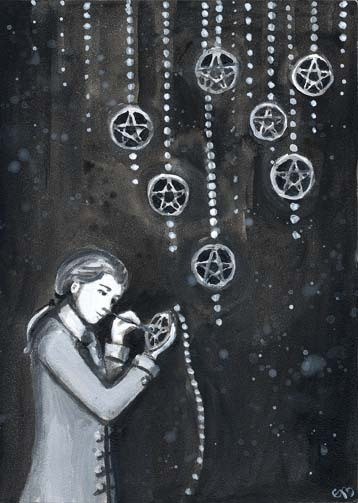 gothiccharmschool:   The Phantomwise Tarot by Erin Morgenstern. Wait, @ErinMorgenstern, the author of The Night Circus?! Ah-ha! Nice to see some recurring themes and images there. (If you haven't read The Night Circus yet, you MUST. Gorgeous book.) Via tarotismyreligion.