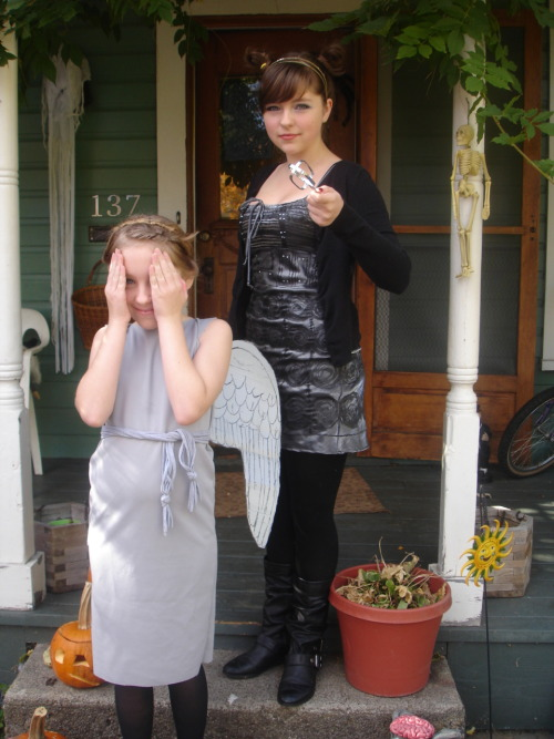 sierrahouk:  Halloween costumesLook out for those Houk Sisters, Doctor!
