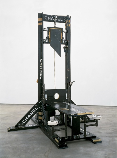 installationarts:  Tom Sachs Chanel Guillotine (Breakfast Nook) 1998 Mixed media