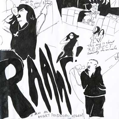 New Halloween blog post up with sketches from the Danzig Legacy concert. Raahr!