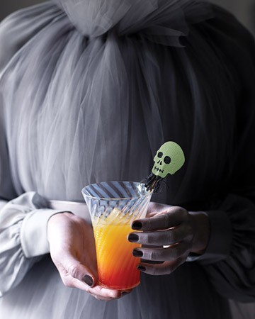 Halloween sunset cocktail