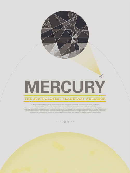 mymirrorball:  Vintage-inspired posters of the planets by Stephen Di Donato  These are a fine complement to Steve Thomas's awesome vintage planetary travel posters.