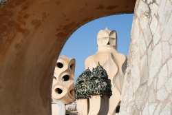wecantakethelongwayhome:  Rooftop of La Pedrera, Barcelona July 2011