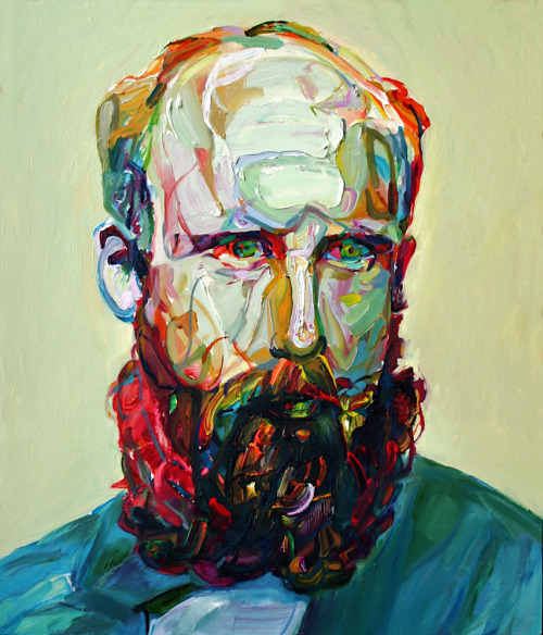 "mucksnipe:  Aaron Smith, ""Buck"", 2011, oil on panel, 28""x24"""