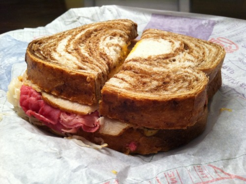 "The Super Rueben from Arby's… ""Up, up and oy vey!"""