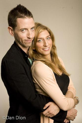 Neal Brennan and Chelsea Peretti by Dan Dion  [Neal, just finished up a mini-excursion at the Punch Line(s). Chelsea, just finished being from her home town, Oakland. Here are the two, just being adorable.]
