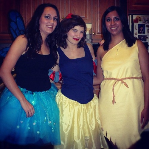 Happy Halloween! From Snow White, a Fairy & Pocahontas. Skirt & dresses all made & designed by me. (It was a very busy week of sewing.) -Cory U