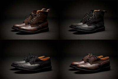 "Tricker's X SuperDenim 3 Ways Stow Boot & Brogues ""Tricker's and Superdenim have teamed up again to great effect with another exciting theme, with this ""3 Ways"" concept. Consisting both the Stow Boot and Brogue Shoe in both brown and black colorways, with the use of suede, pebbled leather and premium leather making for a compromising look."""