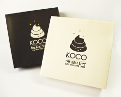 KOCO ASSORTED CHOCOLATE TURDSPackaging Design This deceptively cute, fun and playful package design is a perfect gift to cheer someone up when they are feeling down or a great valentine present that will guarantee you increased relationship points.