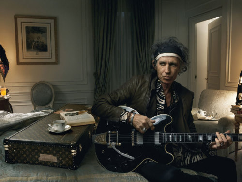 With some people, advertising is the ultimate sell-out. With Keith Richards it's unbelievably cool. That's how beyond the reach of mere mortals Keith is. He can advertise designer luggage and not lose an ounce of credibility while he's doing it.