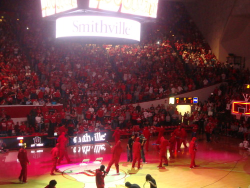 This picture is from Hoosier Hysteria, which took place Oct. 15. The Hoosiers face UIndy on Saturday for an exhibition game and officially tip off the season Nov. 11 against Stony Brook. Between the Colts, IU football and the NBA lockout it has been a tough couple months sports-wise, so I am unbelievably excited for IU basketball season. In my four years here, this season is easily the most-hyped. Go Hoosiers!