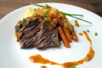 Classic Pot Roast with Mashed Potatoes