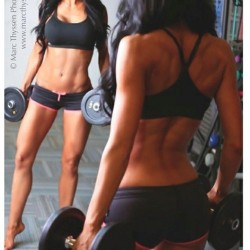 Weights don't have to bulk.  Use dumbbells to tone. paleogirl-push-it:  Now that's drop dead beautiful!